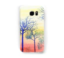 Sunset with Blue Trees Samsung Galaxy Case/Skin