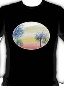Sunset with Blue Trees T-Shirt