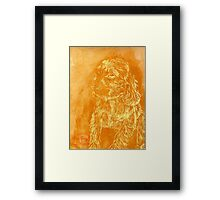 """Golden Puppy"" (monochromatic hue series) Framed Print"