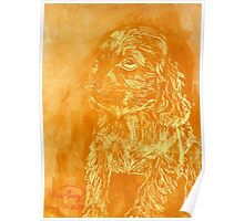 """Golden Puppy"" (monochromatic hue series) Poster"