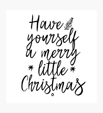 Have yourself a merry little Christmas! Photographic Print