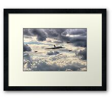 Avro Vulcan And The Gnat Display Team Dunsfold 2014 - HDR Framed Print