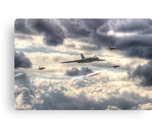 Avro Vulcan And The Gnat Display Team Dunsfold 2014 - HDR Canvas Print