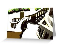 ALONG THE SPIRAL STAIRWAY Greeting Card