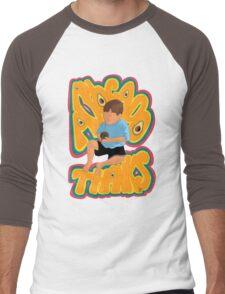 An Avocado...Thanks (Deluxe: Teal/Pink) Men's Baseball ¾ T-Shirt