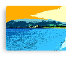 GREENCASTLE BY THE SEA Canvas Print