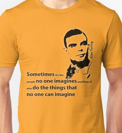 Turing  - Black and White Style Unisex T-Shirt