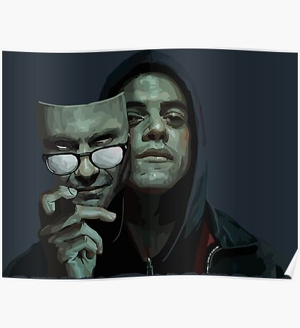 Mr. Robot - Two faces, one person Poster