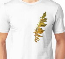 Yellow and golden glowing feather fairy birds. Unisex T-Shirt