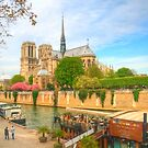 Notre Dame & the River Seine by Michael Matthews