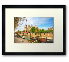 Notre Dame & the River Seine Framed Print