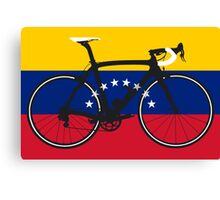 Bike Flag Venezuela (Big - Highlight) Canvas Print