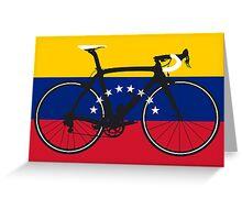 Bike Flag Venezuela (Big - Highlight) Greeting Card