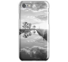 Reflections on irrigation channel - Tongala Victoria Australia iPhone Case/Skin