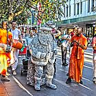 Statuesque Santa Meets Krishna Consciousness by Peter Krause