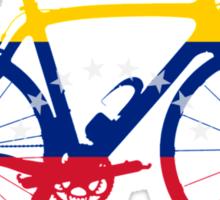 Bike Flag Venezuela (Big) Sticker