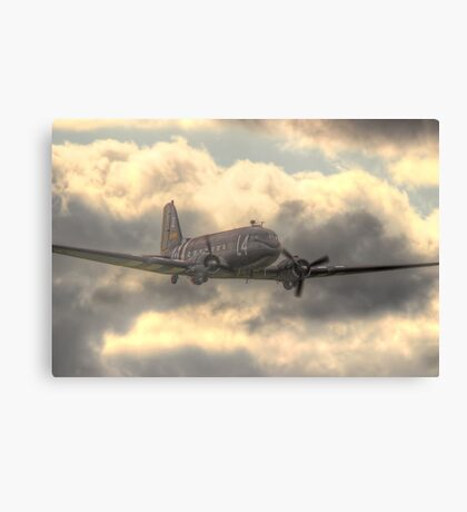 The Douglas C-47 Skytrain - Wings And Wheels 2014 - HDR Canvas Print