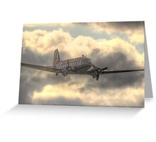 The Douglas C-47 Skytrain - Wings And Wheels 2014 - HDR Greeting Card