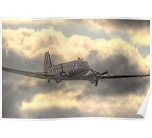 The Douglas C-47 Skytrain - Wings And Wheels 2014 - HDR Poster