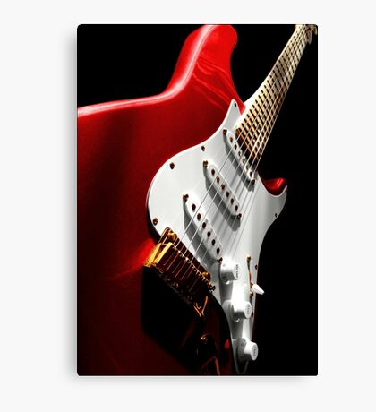 Electric Guitar #1 Red Canvas Print