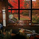 A View Of Fall From The Workbench by Geno Rugh