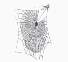 A Large Illustration Of A Spider's Web One Piece - Short Sleeve