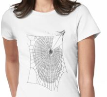 A Large Illustration Of A Spider's Web Womens Fitted T-Shirt