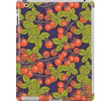 mysterious night in space garden with cherry tomatoes and basil iPad Case/Skin