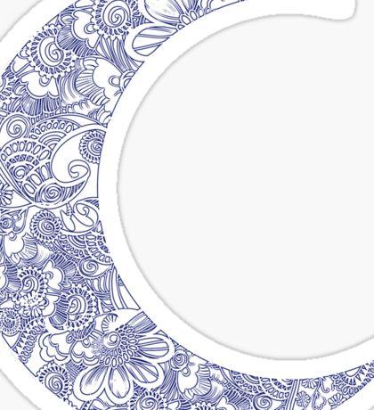 Floral Moon Sticker
