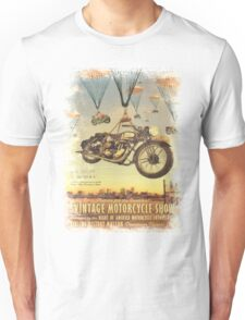 Vintage Motorcycle Show Poster Unisex T-Shirt