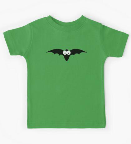 Black bat with big eyes Kids Tee