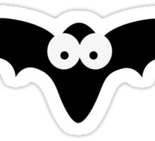 Black bat with big eyes Sticker