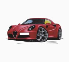 Alfa Romeo 4C Red One Piece - Short Sleeve