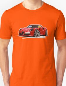 Alfa Romeo 4C Red Unisex T-Shirt