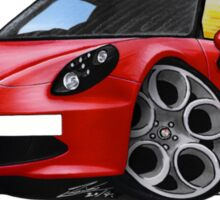 Alfa Romeo 4C Red Sticker