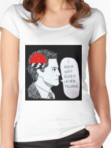 I Know Who Killed Laura Palmer  Women's Fitted Scoop T-Shirt