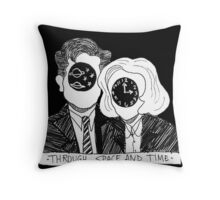 Through Space and Time Throw Pillow