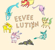 Eeveelution by Steph Hodges