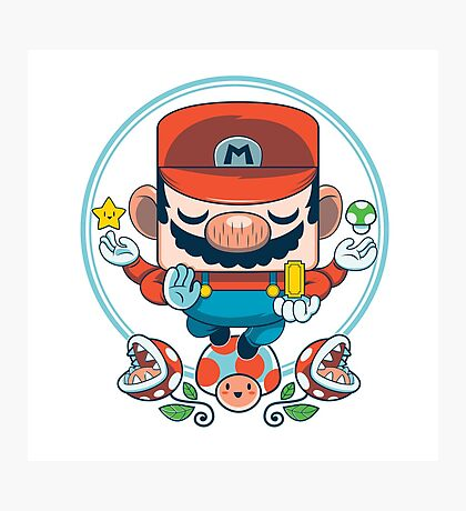 Mario: Destroyer of Obstacles Photographic Print