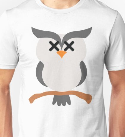 Night Owl Emoji Faint and Knock Out Face Unisex T-Shirt