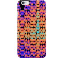 Glowing pattern in purple, orange and blue iPhone Case/Skin