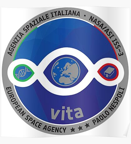 Paolo Nespoli's VITA Mission to the ISS Patch Poster