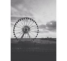 Black and White Brighton Wheel Photographic Print