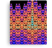 Glowing pattern in purple, orange and blue Canvas Print