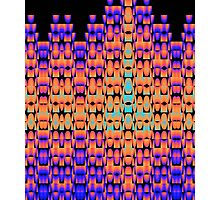 Glowing pattern in purple, orange and blue Photographic Print