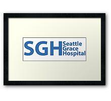 SEATTLE GRACE HOSPITAL - GREY'S ANATOMY Framed Print
