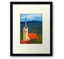 The village church of Reichenau I | architectural photography Framed Print