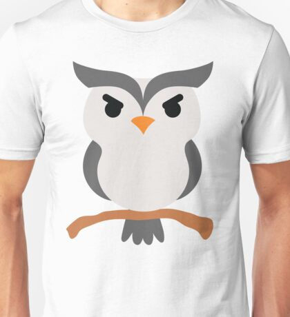 Night Owl Emoji Angry and Mean Face Unisex T-Shirt