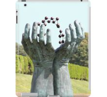 Hands and molecules iPad Case/Skin