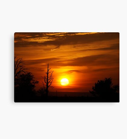 Fire sunset Canvas Print